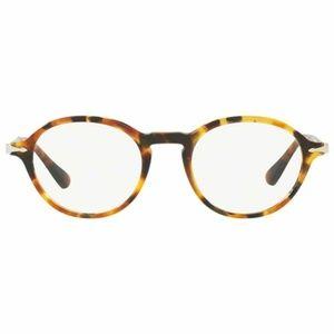 Persol Oval Eyeglasses Brown/Beige Tortoise Color